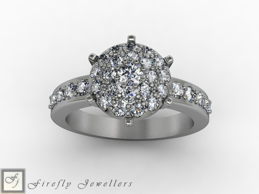 Cluster diamond ring - F56D