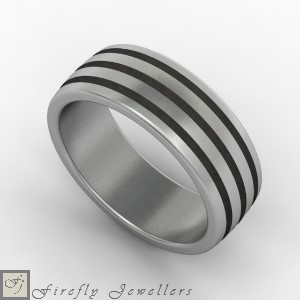 F14M modern men's wedding ring