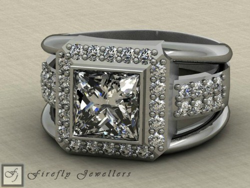 Princess cut engagement ring - F26T2