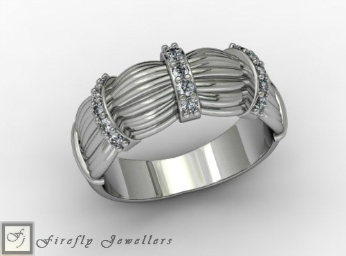 Sterling silver and cubic zirconia ring - F37E