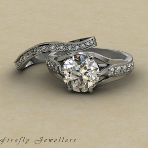 F28T2 engagement ring and wedding band g 1