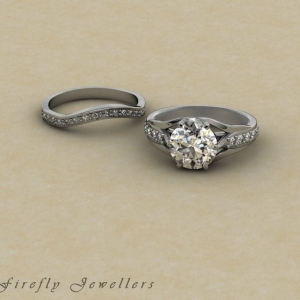 F28T2 engagement ring and wedding band g 2